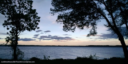 Evening walk in Trenton Ontario. Looking out over Bay of Quinte. (Lake Ontario)